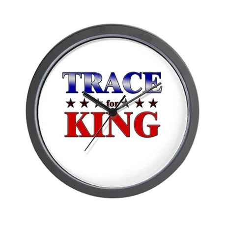 TRACE for king Wall Clock