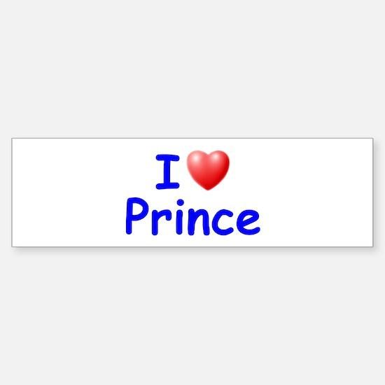 I Love Prince (Blue) Bumper Bumper Bumper Sticker