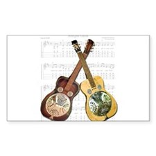 Dobro and loving it Rectangle Decal