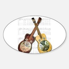 Dobro and loving it Oval Decal