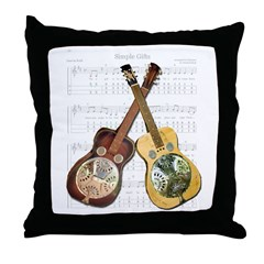 Dobro and loving it Throw Pillow