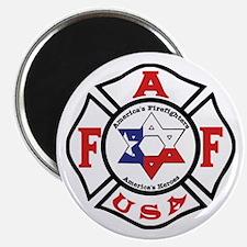 Jewish Firefighter Star Magnet