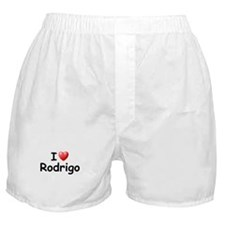 I Love Rodrigo (Black) Boxer Shorts