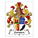 Gorissen Family Crest Small Poster