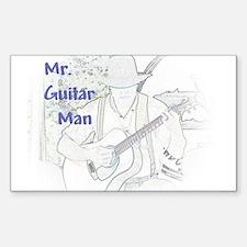 Mr. Guitar Man Rectangle Decal