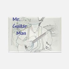 Mr. Guitar Man Rectangle Magnet