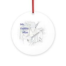 Mr. Guitar Man Ornament (Round)