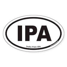 IPA India Pale Ale Oval Bumper Stickers