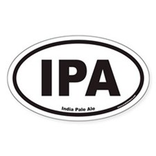 IPA India Pale Ale Oval Stickers