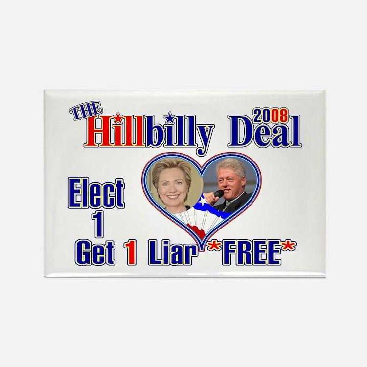 Hillbilly 2008 Deal Rectangle Magnet