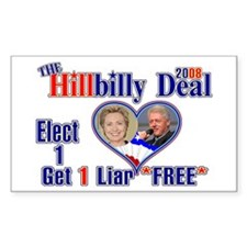 Hillbilly 2008 Deal Rectangle Decal