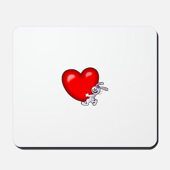 Bunny Heart Mousepad
