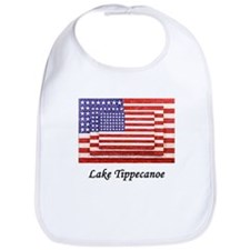 3 Flags Superimposed Bib