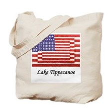 3 Flags Superimposed Tote Bag
