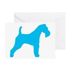 Blue Wire Fox Terrier Greeting Card