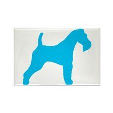 Blue Wire Fox Terrier Rectangle Magnet