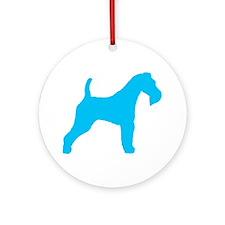 Blue Wire Fox Terrier Ornament (Round)