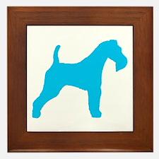 Blue Wire Fox Terrier Framed Tile