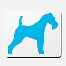 Blue Wire Fox Terrier Mousepad