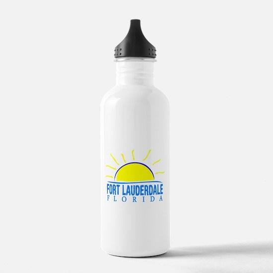 Summer fort lauderdale Sports Water Bottle