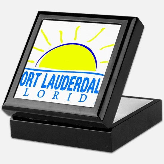 Summer fort lauderdale- florida Keepsake Box