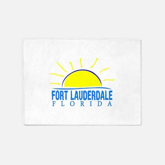 Summer fort lauderdale- florida 5'x7'Area Rug