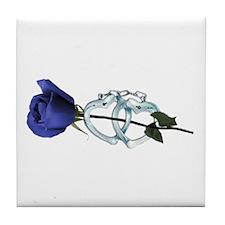 Rose/Cuffs Tile Coaster