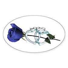Rose/Cuffs Oval Decal