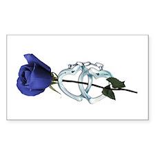 Rose/Cuffs Rectangle Decal