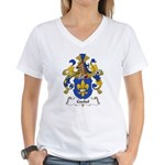 Goebel Family Crest Women's V-Neck T-Shirt