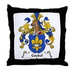 Goebel Family Crest Throw Pillow