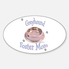 Foster Mom Bowl Oval Decal