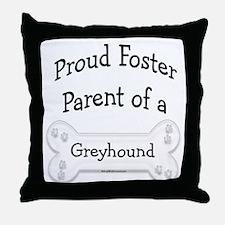 Greyhound Foster Parent Throw Pillow