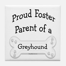 Greyhound Foster Parent Tile Coaster