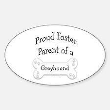 Greyhound Foster Parent Oval Decal