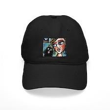 Singing Schipperke w Singer Baseball Hat