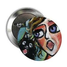 "Singing Schipperke w Singer 2.25"" Button (10 pack)"
