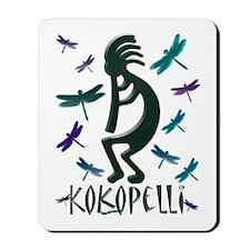 Kokopelli with Dragonflies Mousepad