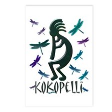 Kokopelli with Dragonflies Postcards (Package of 8