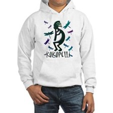Kokopelli with Dragonflies Hoodie