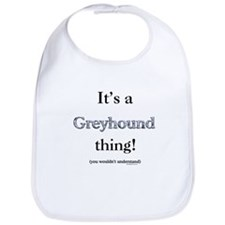 Greyhound Thing Bib