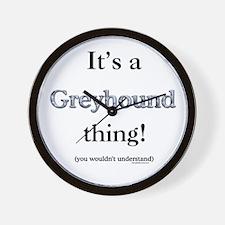 Greyhound Thing Wall Clock