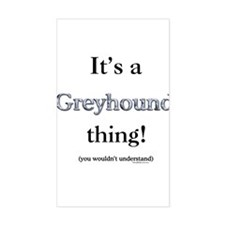 Greyhound Thing Rectangle Decal