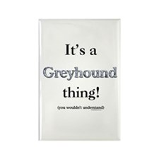Greyhound Thing Rectangle Magnet