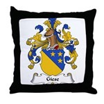 Giese Family Crest Throw Pillow