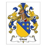 Giese Family Crest Small Poster