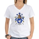 Geusau Family Crest Women's V-Neck T-Shirt
