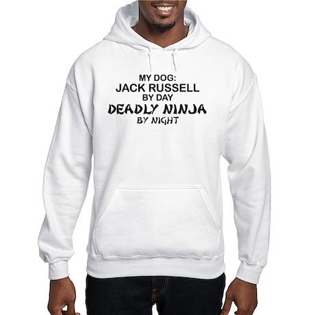 Jack Russell Deadly Ninja Hooded Sweatshirt