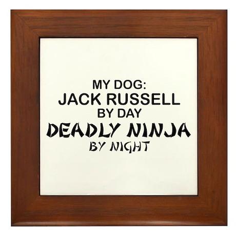 Jack Russell Deadly Ninja Framed Tile