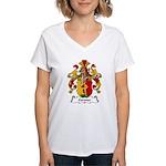 Gertner Family Crest Women's V-Neck T-Shirt
